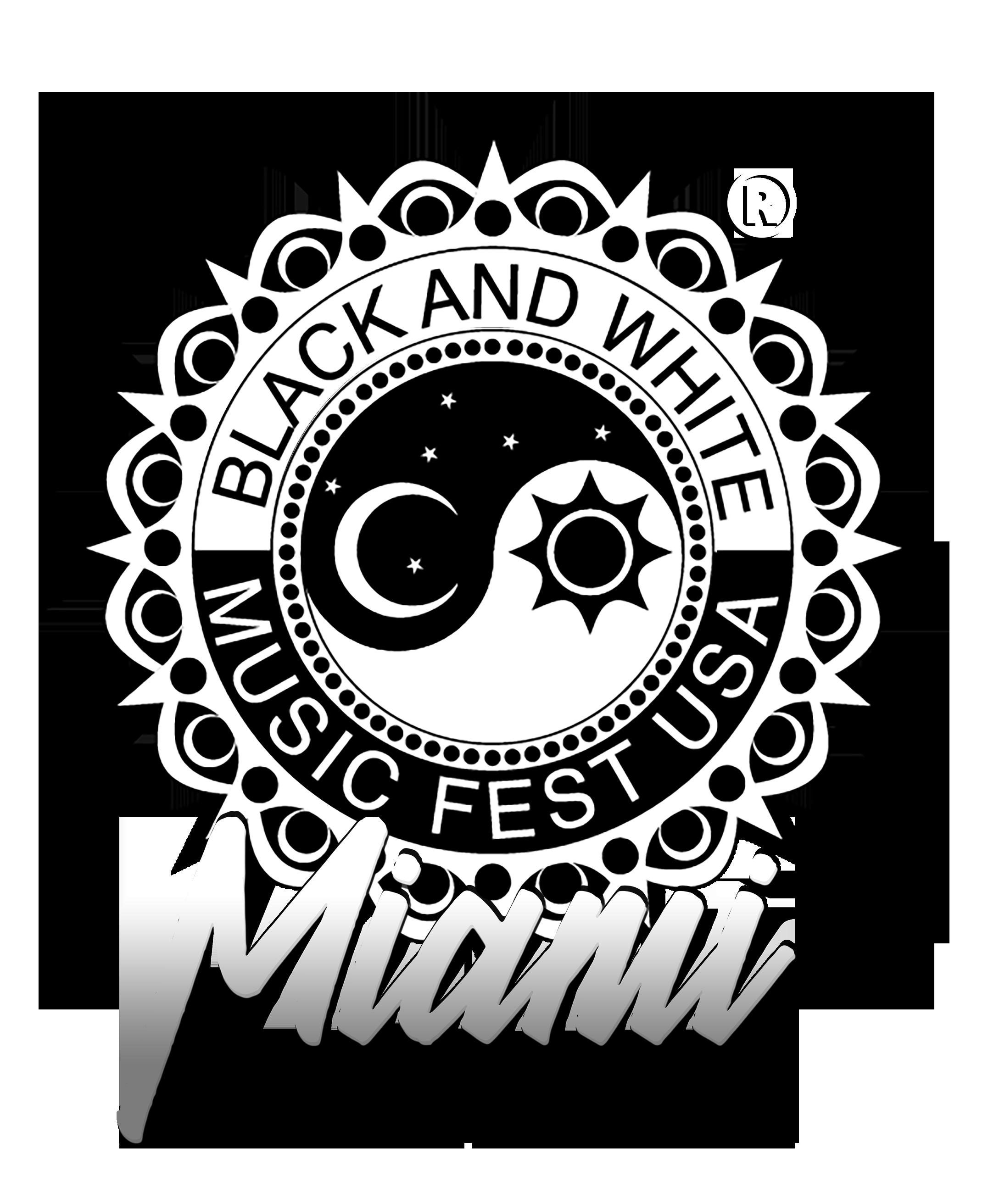 Miami Fest us   Black and White